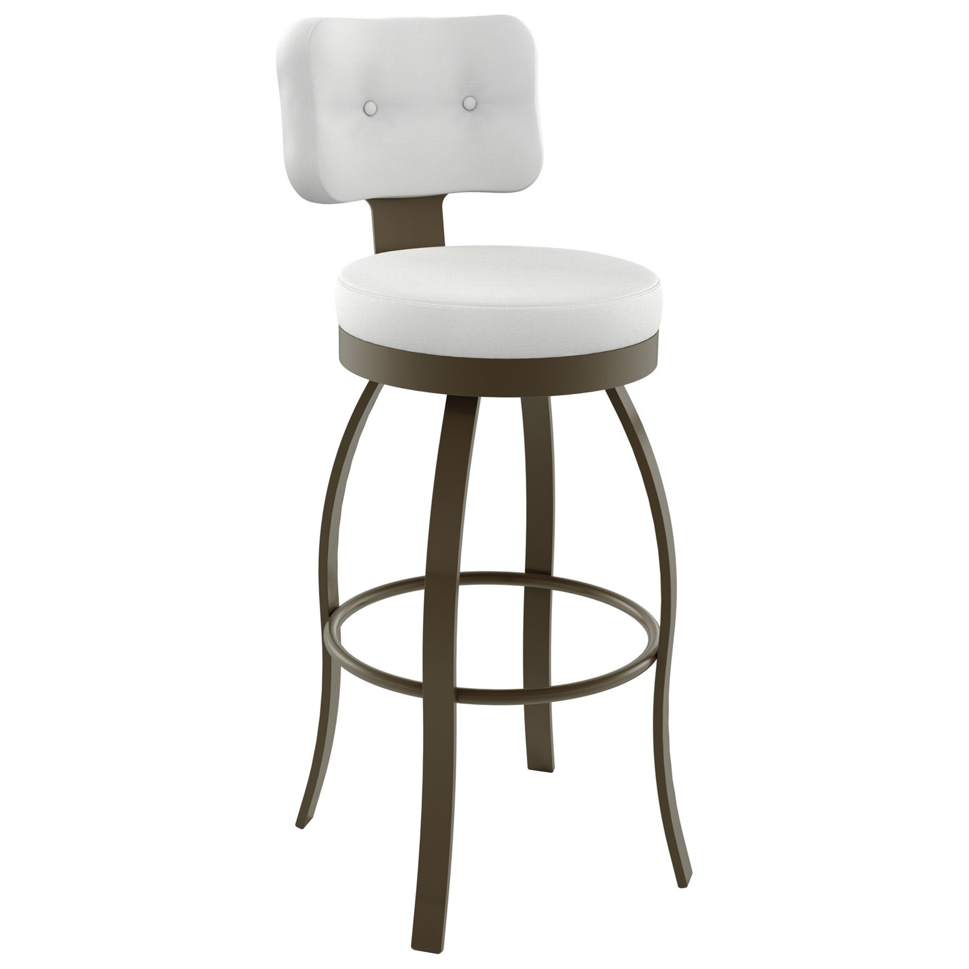 """Boudoir 30"""" Swan Swivel Bar Stool by Amisco at Rooms and Rest"""