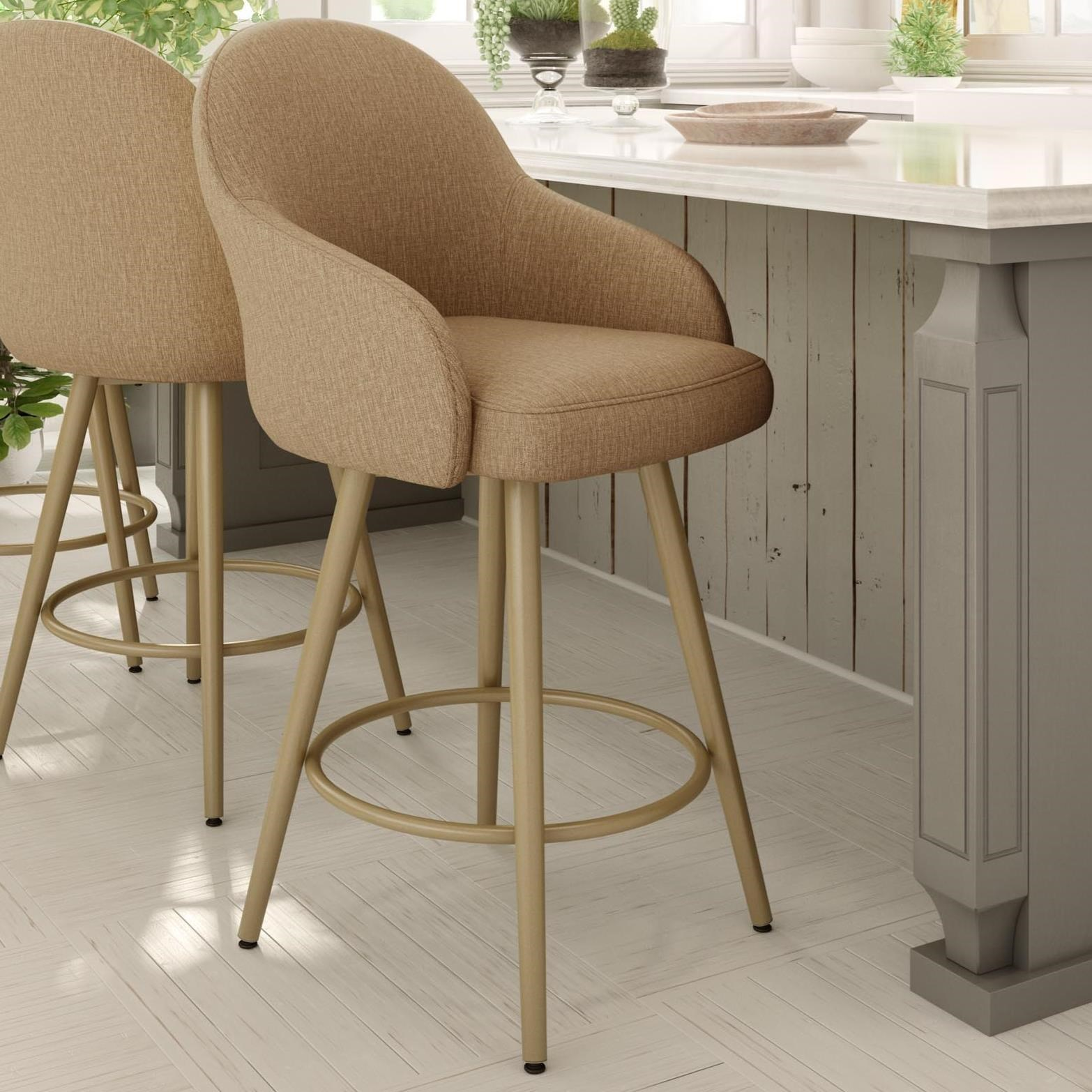 "Boudoir 26"" Weston Swivel Counter Stool by Amisco at Jordan's Home Furnishings"