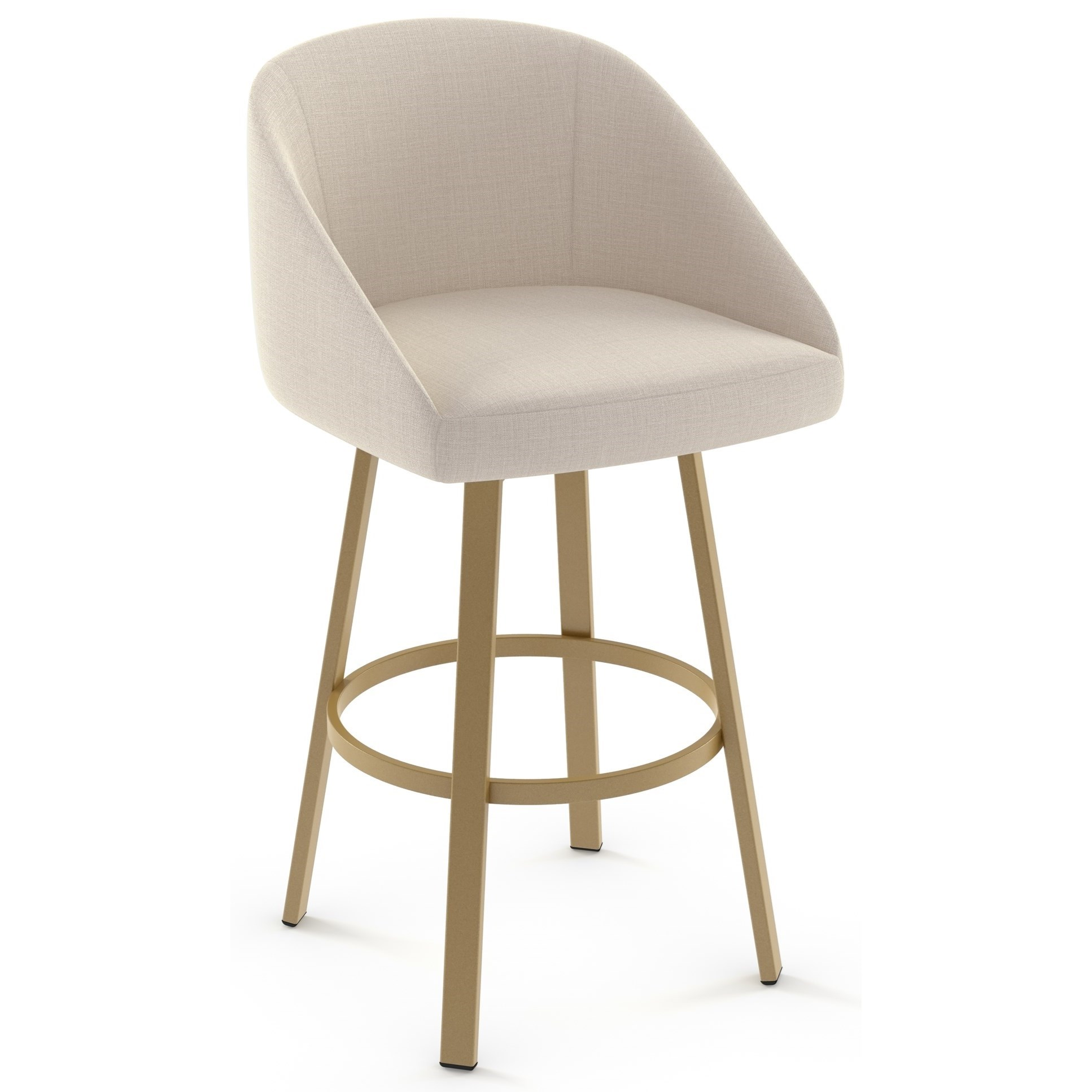 "Boudoir 30"" Wembley Swivel Bar Stool by Amisco at Dinette Depot"