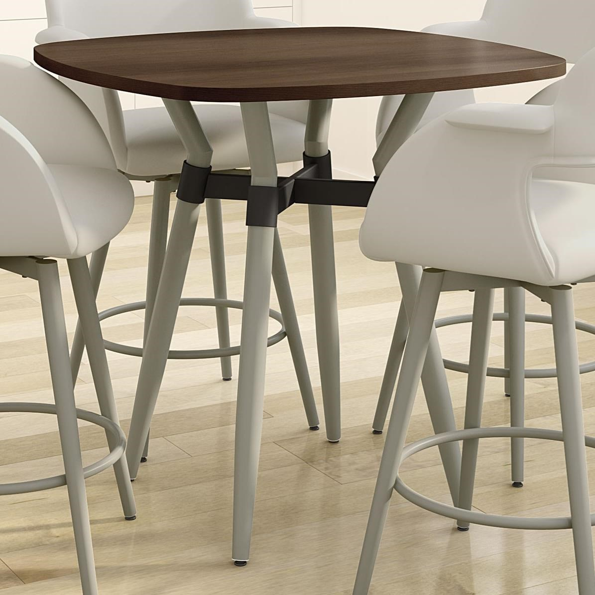Boudoir Customizable Link Counter Pub Table by Amisco at Jordan's Home Furnishings