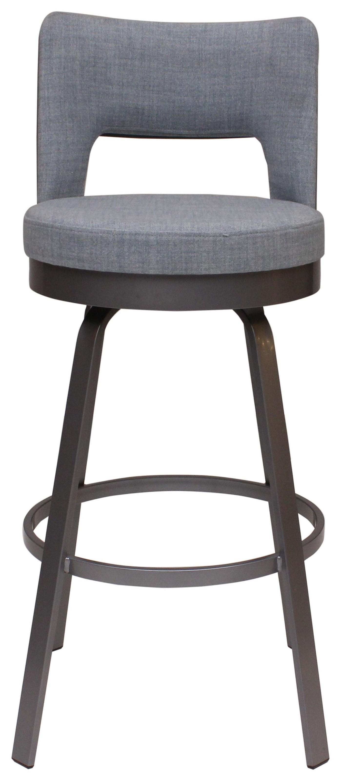 Brock Swivel Barstool by Amisco at HomeWorld Furniture