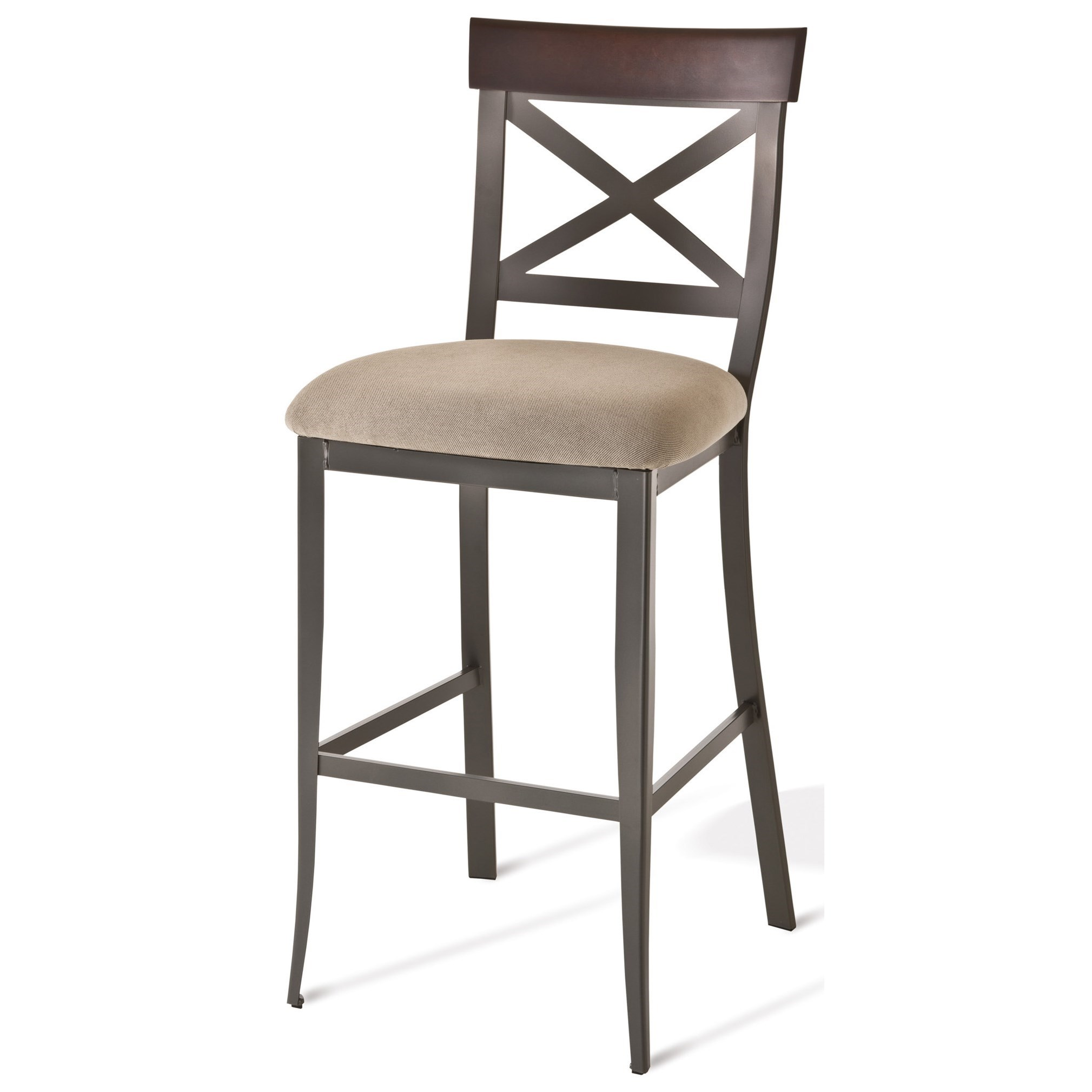 "Countryside 30"" Kyle Bar Stool with Upholstered Seat by Amisco at Saugerties Furniture Mart"