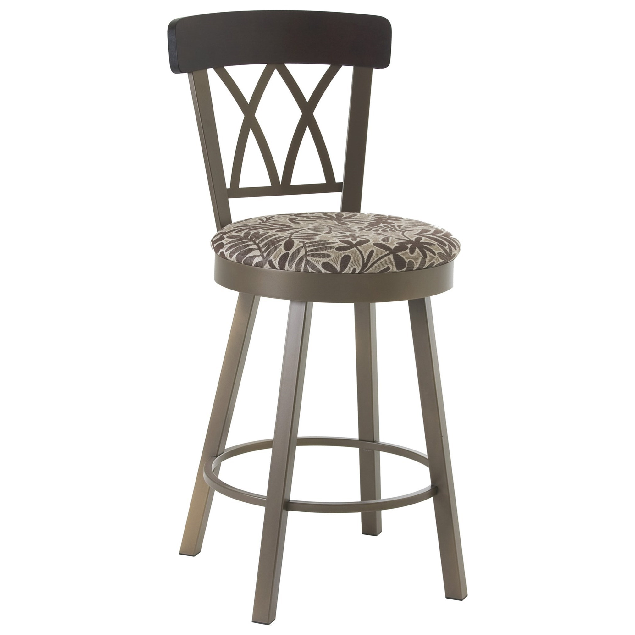 "Countryside 26"" Brittany Swivel Counter Stool by Amisco at Dinette Depot"