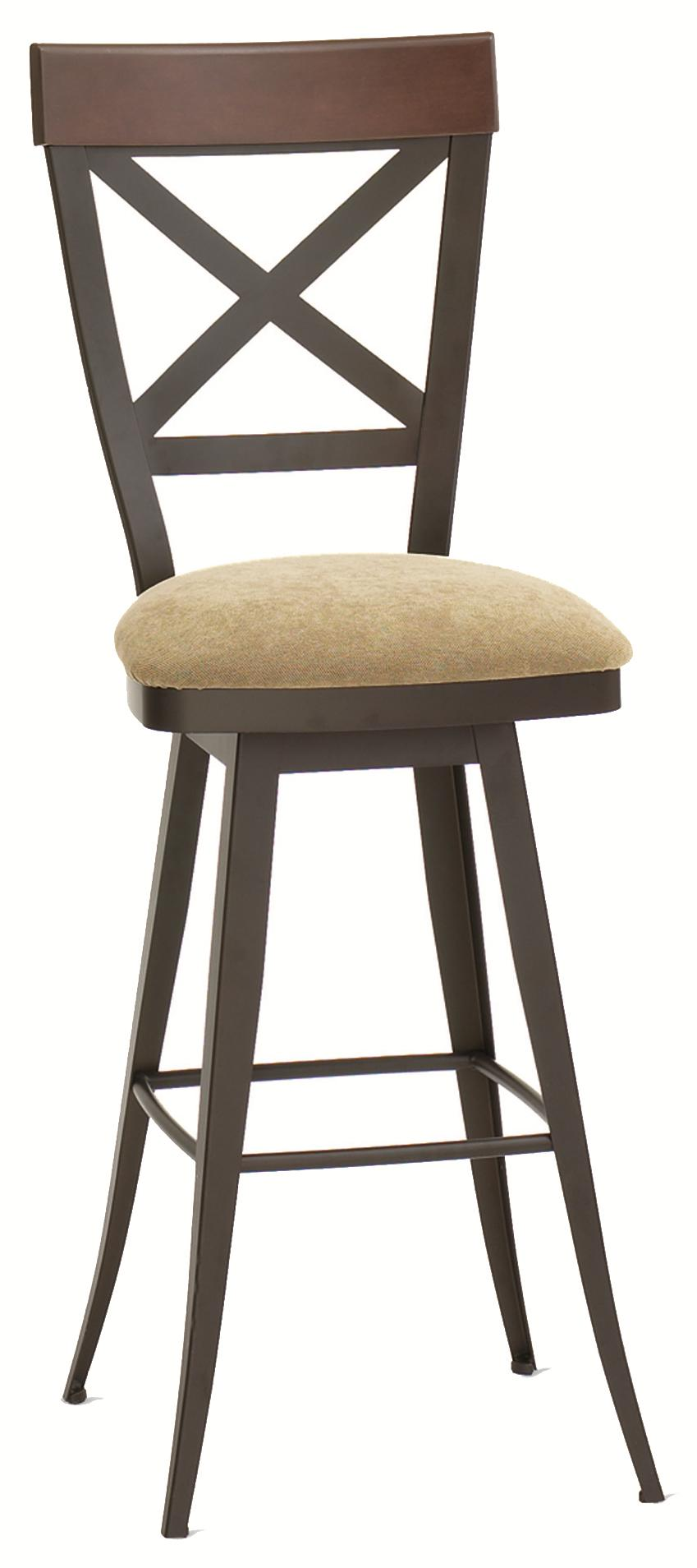 "Countryside 26"" Kyle Swivel Counter Stool  by Amisco at Saugerties Furniture Mart"