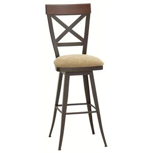 "Customizable 26"" Kyle Swivel Counter Stool in Country Themed Furniture Style"