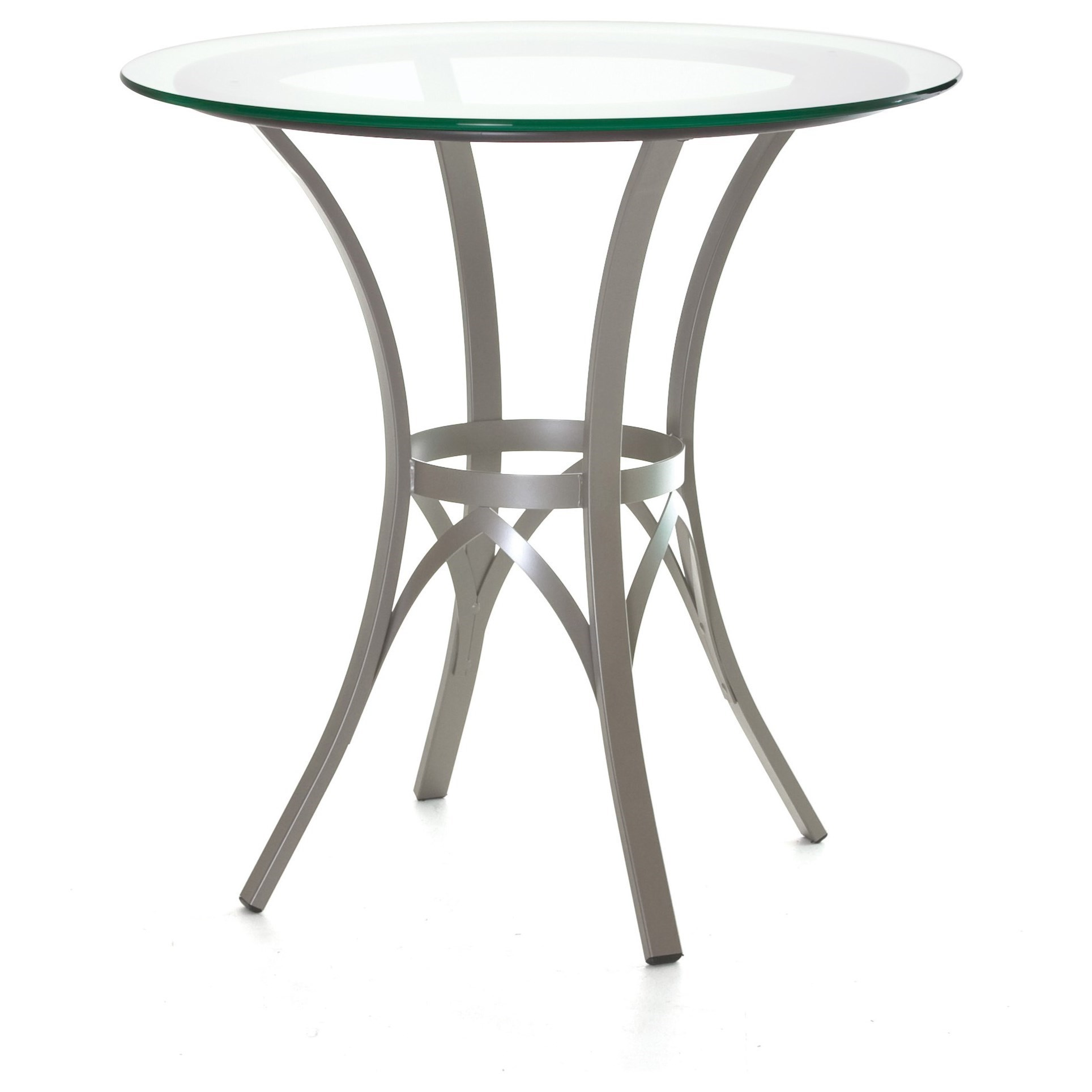 Countryside Kai Counter Table w/ Wood Ring & Glass Top by Amisco at Dinette Depot