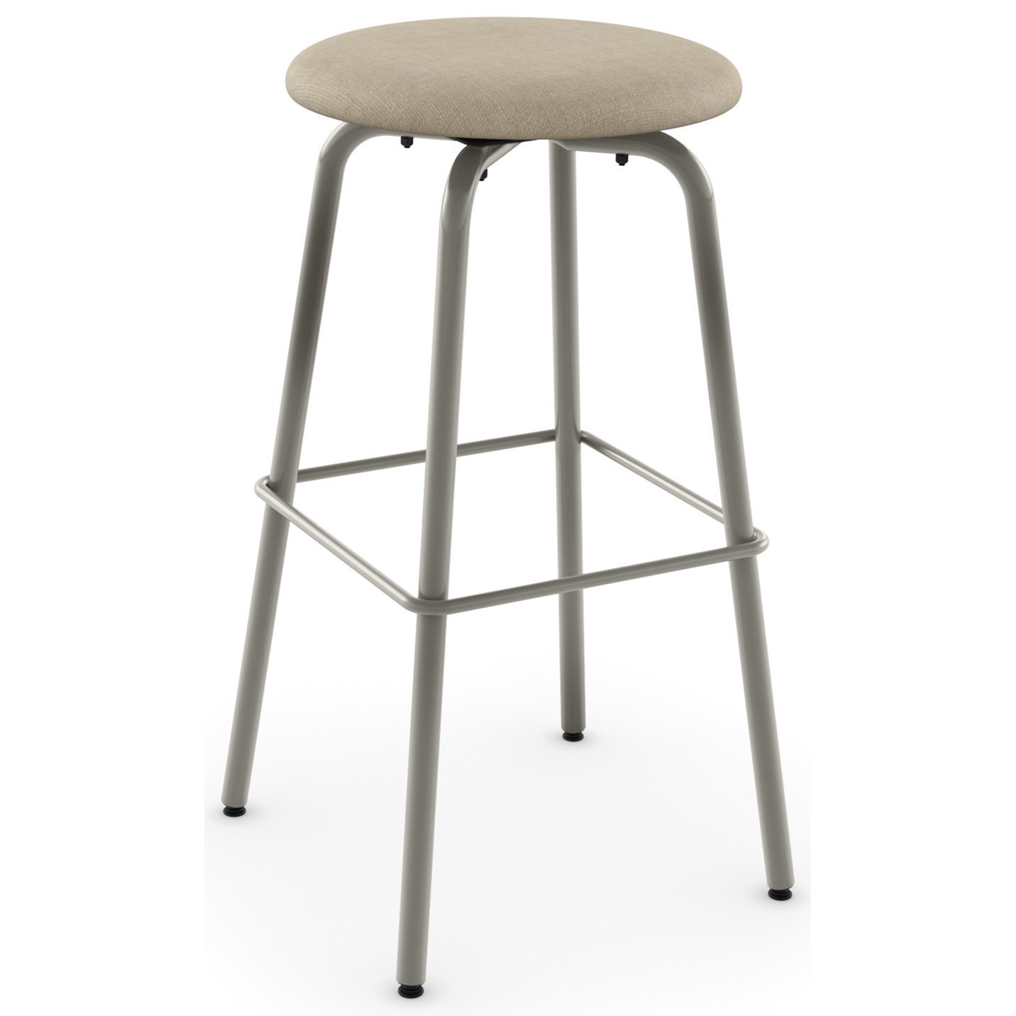 "Eco 34"" Button Spectator Height Swivel Stool by Amisco at Jordan's Home Furnishings"