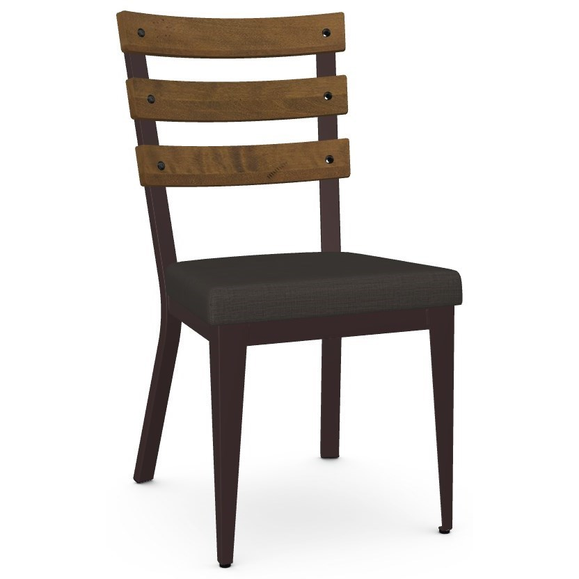 Industrial Dexter Chair with  Upholstered Seat by Amisco at Jordan's Home Furnishings