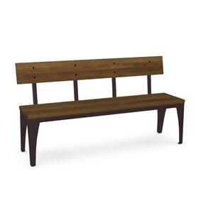 Customizable Architect Bench with Wood Seat