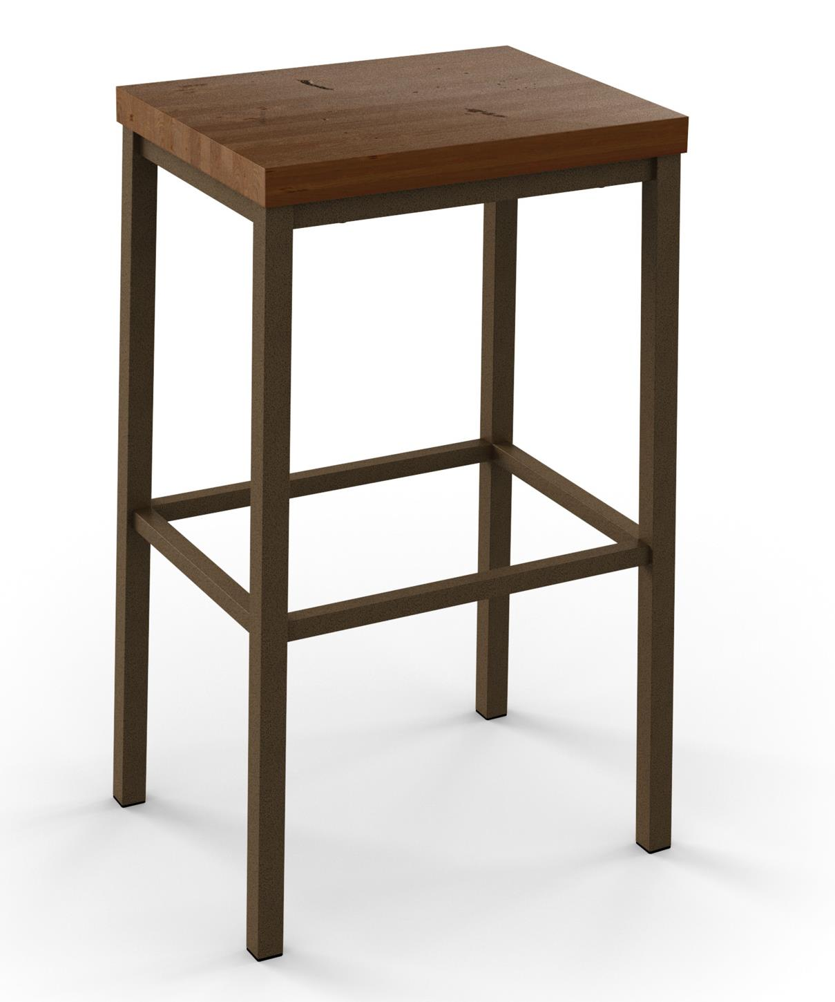 Industrial Bradley Non-Swivel Counter Height Stool by Amisco at Rooms and Rest
