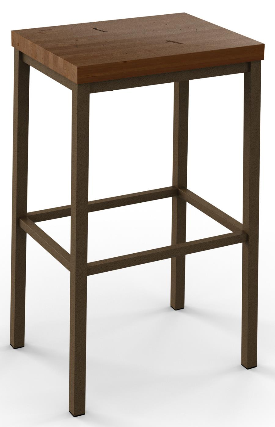Industrial Bradley Non-Swivel Bar Height Stool by Amisco at Dinette Depot