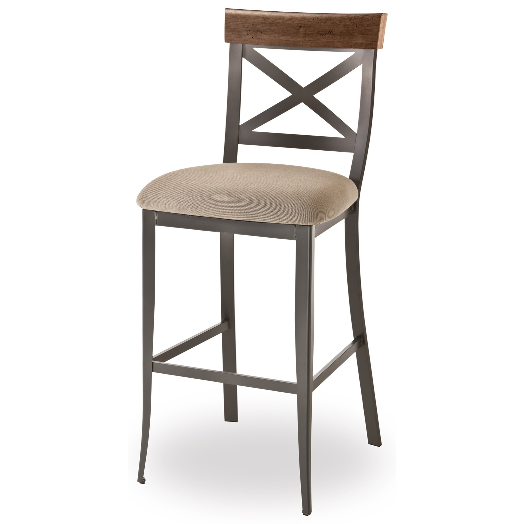 """Industrial 26"""" Kyle Stool with Upholstered Seat by Amisco at Dinette Depot"""