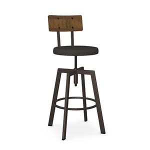 Architect Stool with Upholstered Seat