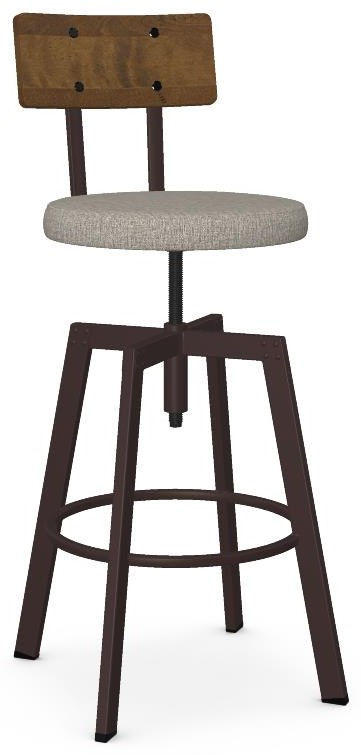 Industrial Customizable Architect Adjustable Stool by Amisco at Crowley Furniture & Mattress