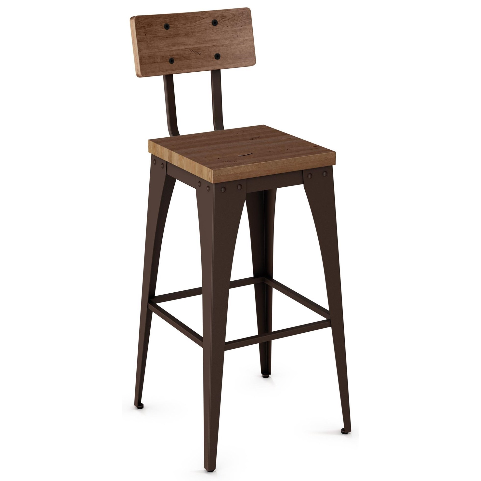 """Industrial 26"""" Upright Stool by Amisco at Saugerties Furniture Mart"""