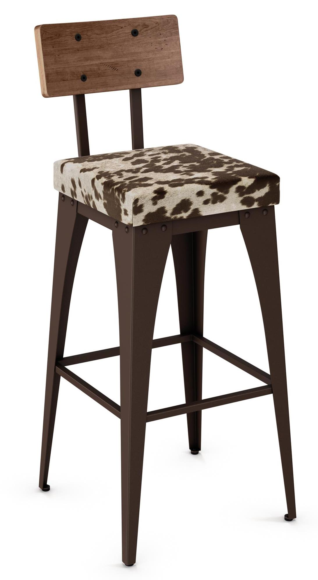 "Industrial 26"" Upright Stool by Amisco at Johnny Janosik"
