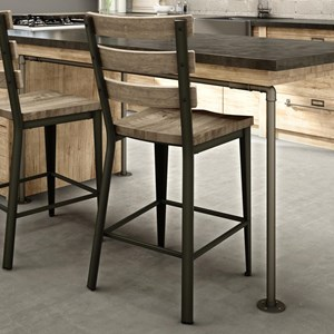 """26"""" Dexter Counter Stool with Wood Seat"""