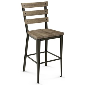 """30"""" Dexter Bar Stool with Wood Seat"""