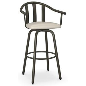 "30"" Gatlin Swivel Bar Stool w/ Cushion Seat"