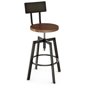 Adjustable Height Architect Screw Stool