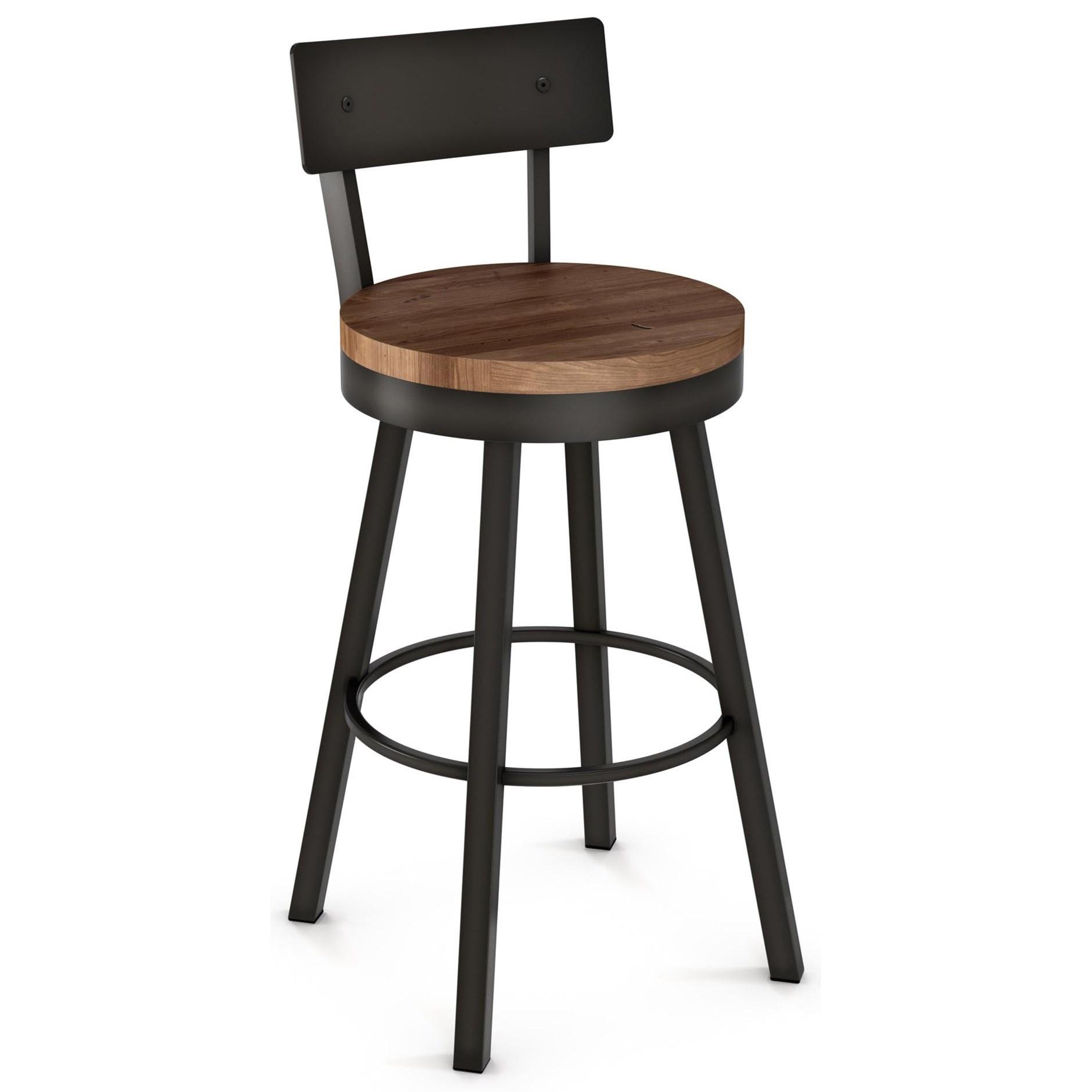 "Industrial 30"" Lauren Swivel Stool by Amisco at Saugerties Furniture Mart"