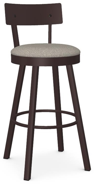 Industrial Customizable Lauren Swivel Bar Stool by Amisco at Crowley Furniture & Mattress