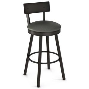 "30"" Lauren Swivel Bar Stool with Cushioned Seat"