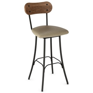 """26"""" Bean Swivel Stool with Upholstered Seat"""