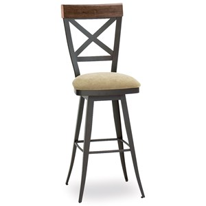 """26"""" Kyle Swivel Stool with Upholstered Seat"""