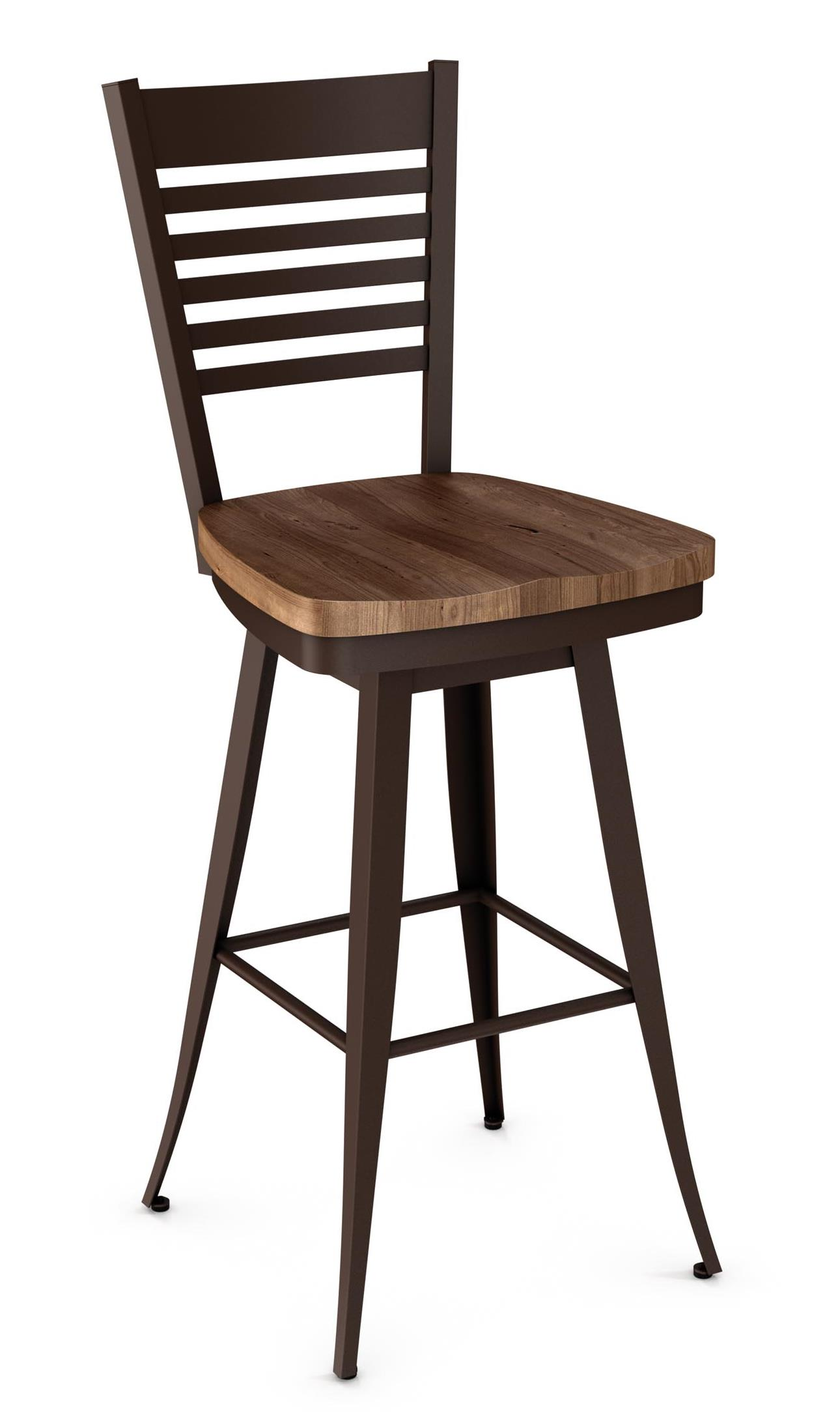 """Industrial Edwin 30"""" Swivel Barstool by Amisco at Saugerties Furniture Mart"""