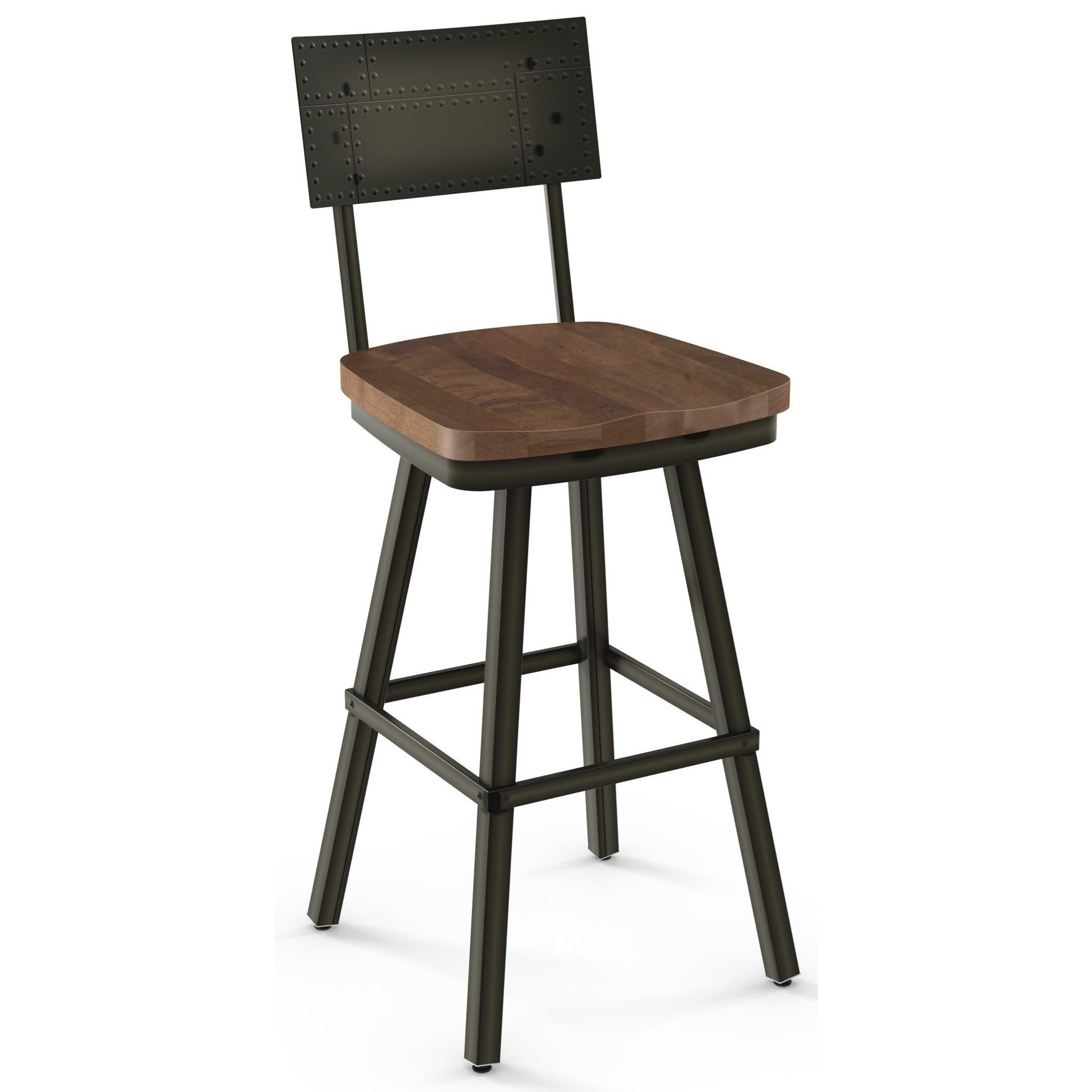"Industrial 30"" Bar Height Jetson Swivel Stool by Amisco at Belfort Furniture"