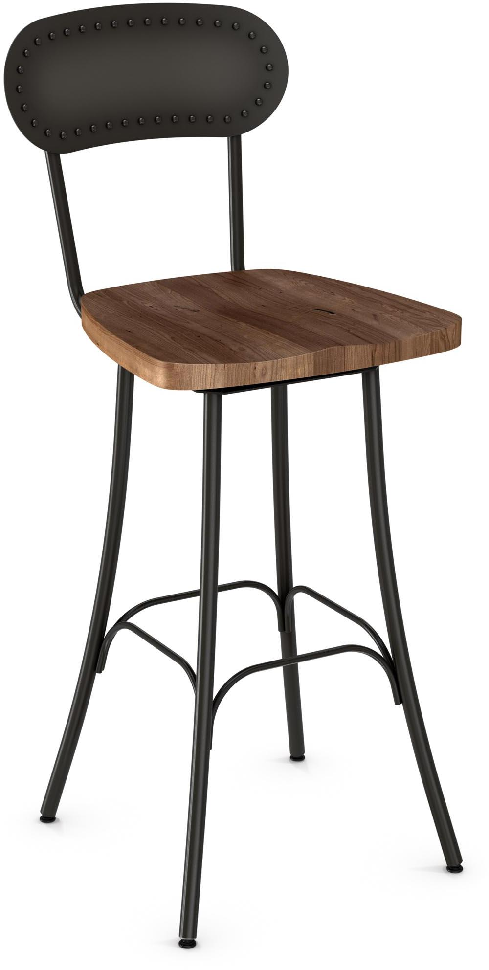 "Industrial 30"" Bean Bar Stool by Amisco at Saugerties Furniture Mart"