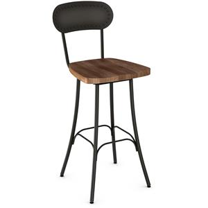 "30"" Bean Bar Stool with Wood Swivel Seat"