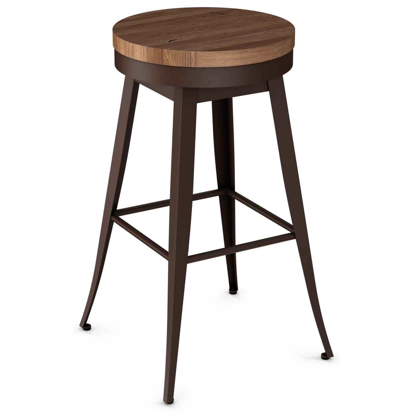 """Industrial 34"""" Grace Spectator Height Swivel Stool by Amisco at Jordan's Home Furnishings"""