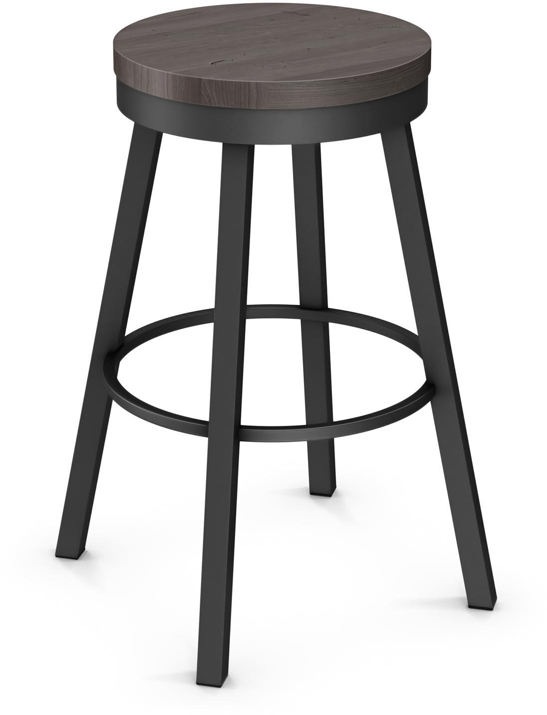 """Industrial 26"""" Connor Counter Height Swivel Stool by Amisco at Dinette Depot"""