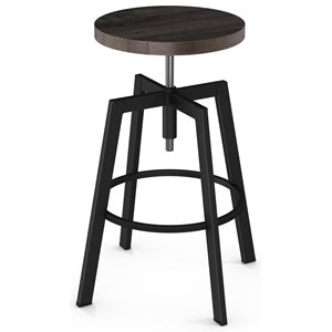 Adjustable Architect Screw Stool with Wood Seat