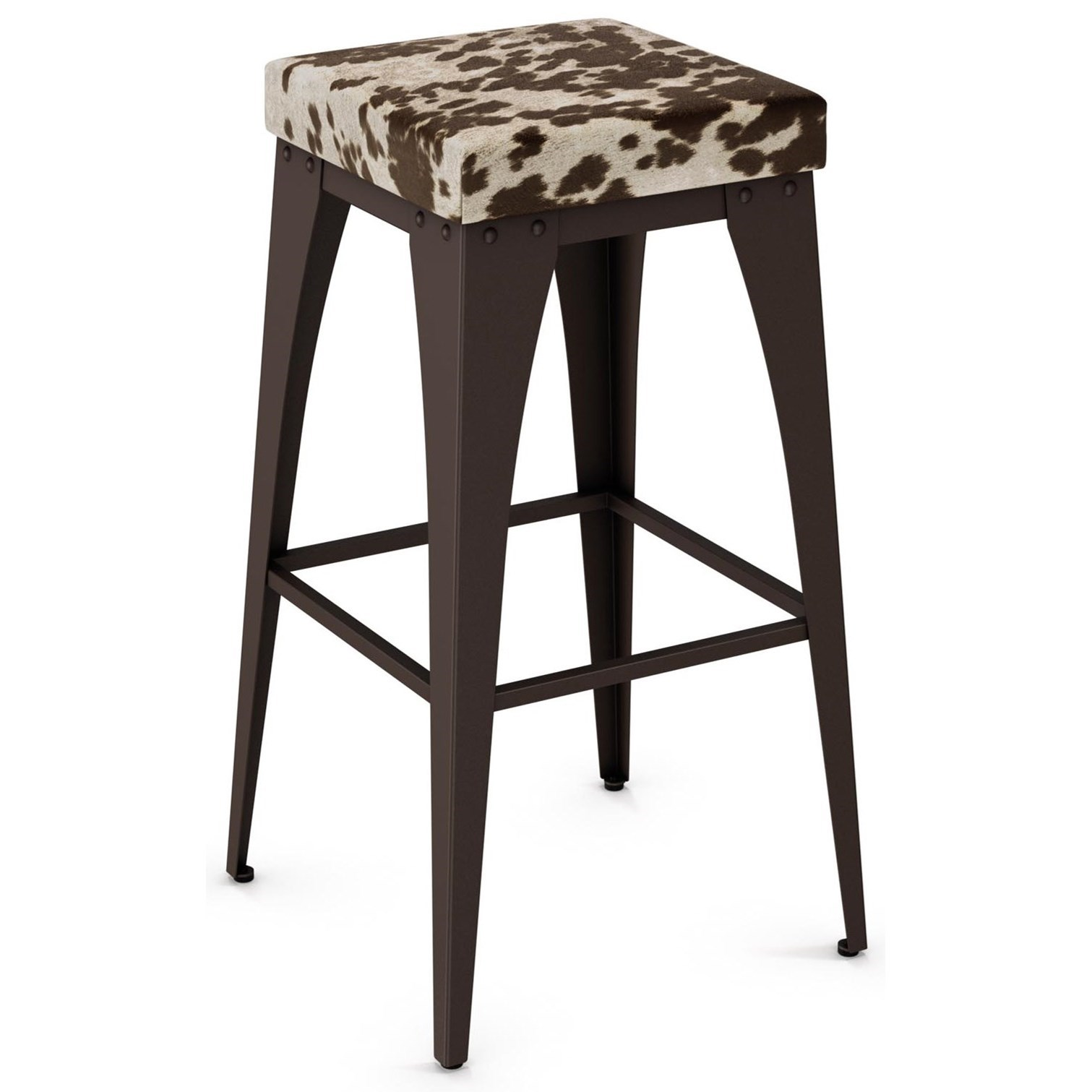 """Industrial 30"""" Upright Stool with Upholstered Seat by Amisco at Jordan's Home Furnishings"""