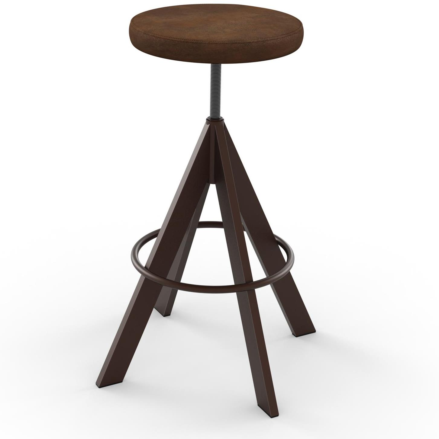 Industrial Uplift Screw Stool by Amisco at Saugerties Furniture Mart