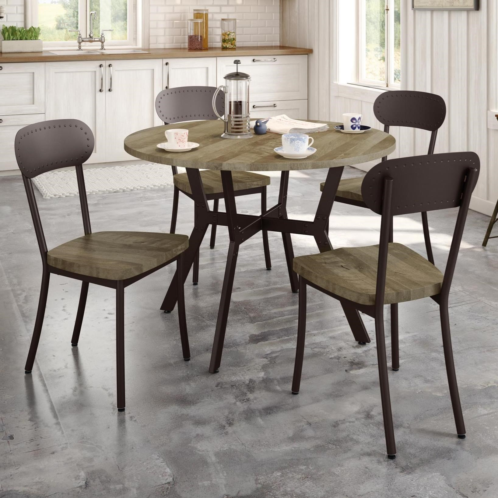 Industrial 5-Piece Norcross Table Set by Amisco at Jordan's Home Furnishings