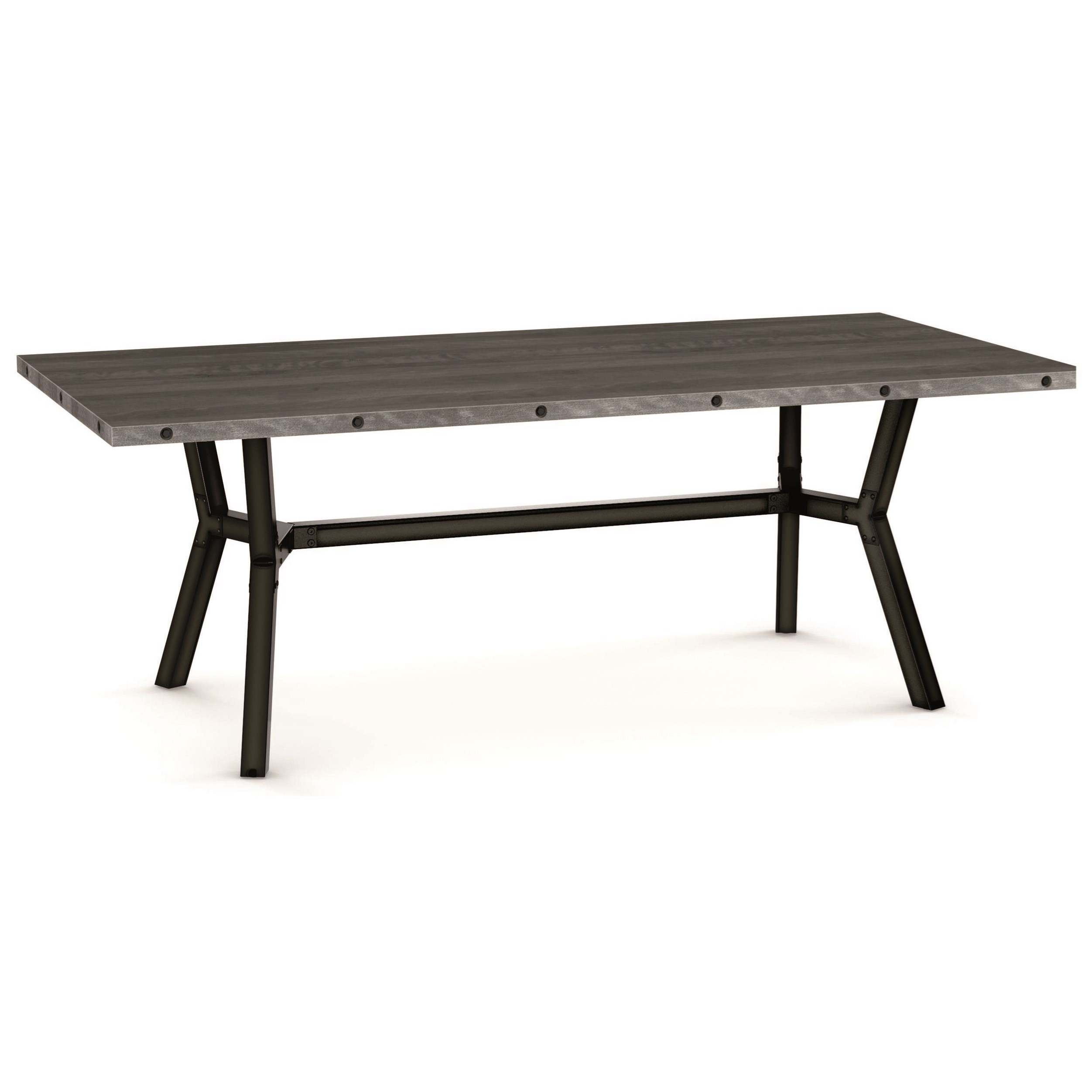 Industrial Southcross Dining Table by Amisco at Rooms and Rest