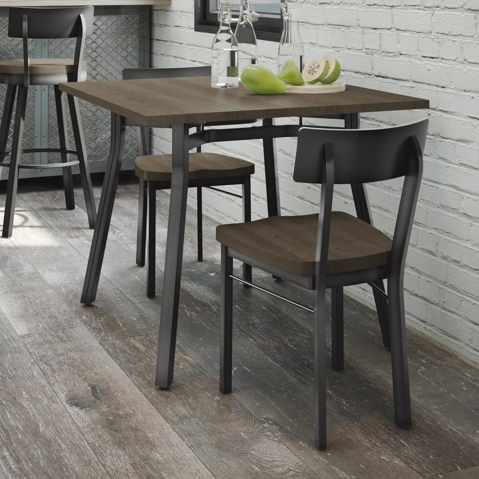 Industrial Moris Table Set w/ Solid Birch Top by Amisco at Jordan's Home Furnishings
