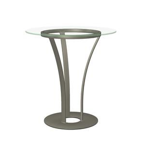 Customizable Dalia Table with Round Glass Top