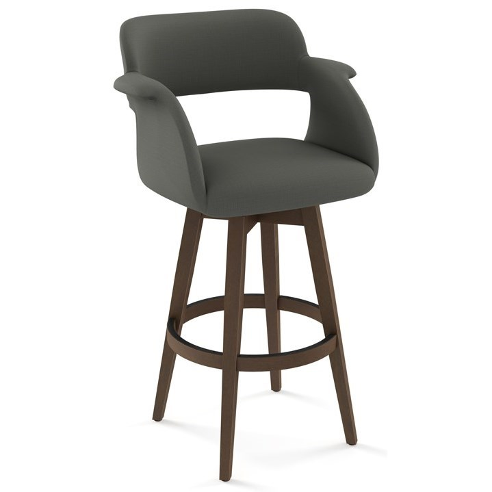 "Nordic 26"" Joshua Swivel Counter Stool by Amisco at Rooms and Rest"