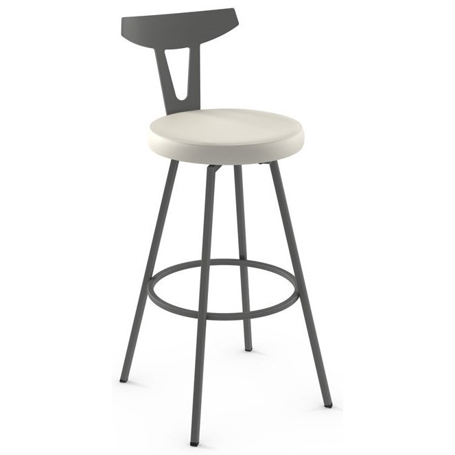 "Nordic 26"" Hans Swivel Counter Stool by Amisco at Rooms and Rest"