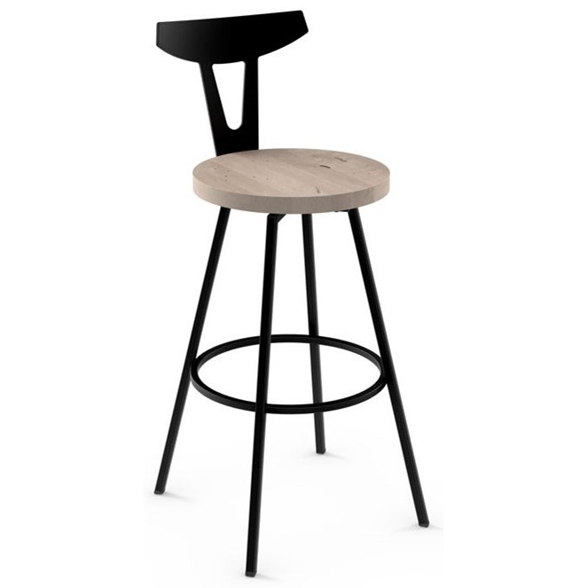 """Nordic 30"""" Hans Swivel Bar Stool by Amisco at SuperStore"""