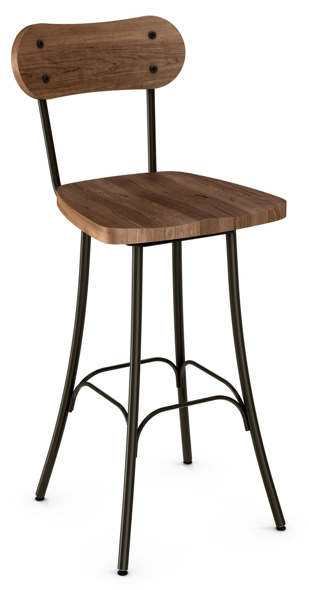 """Industrial Bean 26"""" Swivel Barstool by Amisco at Dinette Depot"""