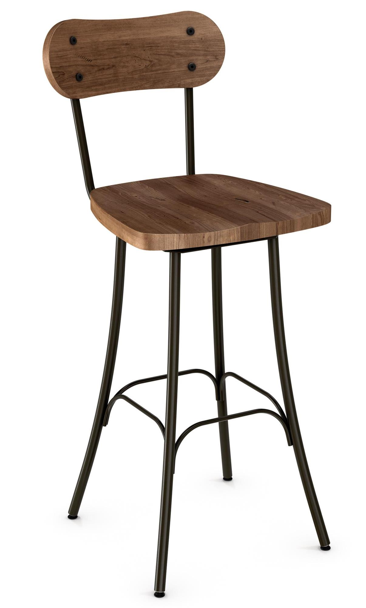 """Industrial Bean 30"""" Swivel Barstool by Amisco at Saugerties Furniture Mart"""