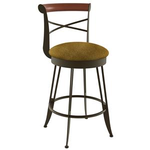 "Amisco Stools 30"" Historian Swivel Bar Stool"