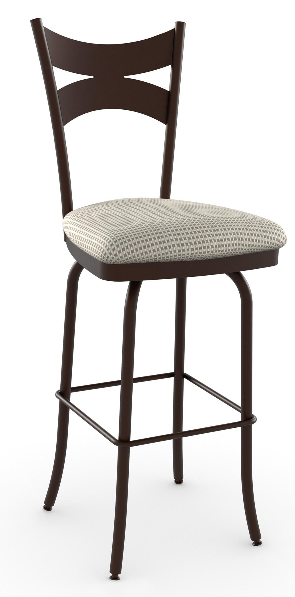 """Countryside 30"""" Meadow Swivel Bar Stool by Amisco at Jordan's Home Furnishings"""
