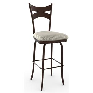 "Amisco Stools 30"" Meadow Swivel Bar Stool"